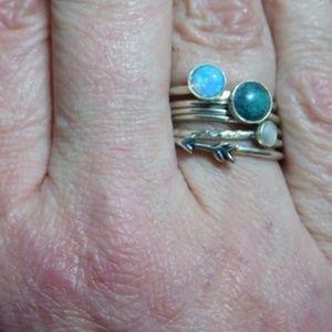 Moodtherapy Jewelry - Sterling Silver Australian Fire Opal Ring